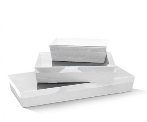 White catering trays
