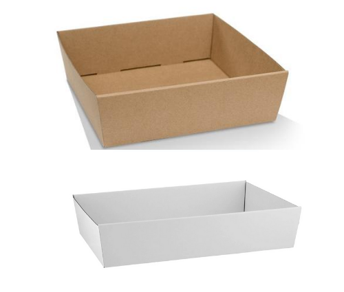 White and Brown Catering Tray