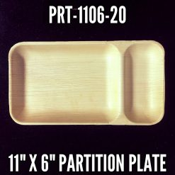 Palm Leaf Compartment Plates