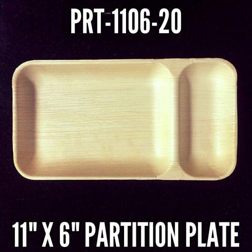 Palm Leaf Compartment Plates